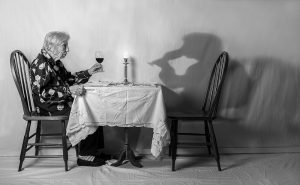 Dining with herself - Tony Luciani. Photo subject to copyright